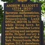 Ellicott House historic marker