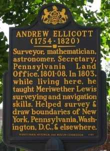 Ellicott House historic marker