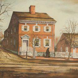sehner-ellicott-von-hess-house-watercolor-print