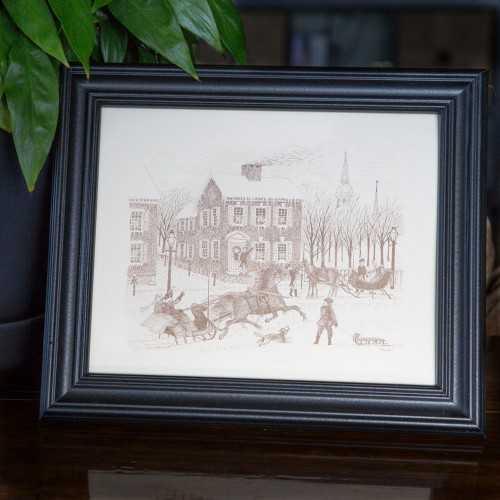 Sehner-Ellicott von Hess House Winter Scene